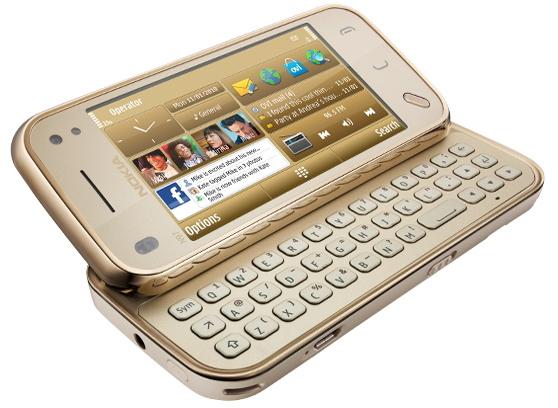 Produktbilder: Nokia N97 mini gold - Standardansicht (Bild 1)