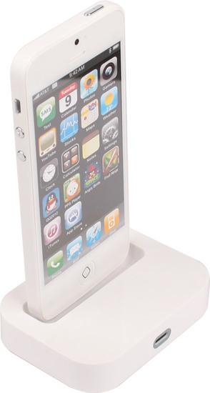 Twins Charging Dock für iPhone 5, weiß -