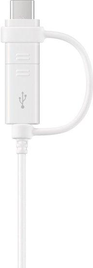 Samsung Datenkabel Micro-USB zu USB-A inkl USB-C Adapter, Weiß -