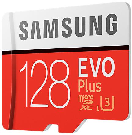 Samsung EVO Plus microSD Karte 128 GB, Class10 (2017) (SD Adapter) -