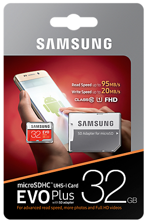Samsung EVO Plus microSD Karte 32 GB, Class10 (2017) (SD Adapter) -