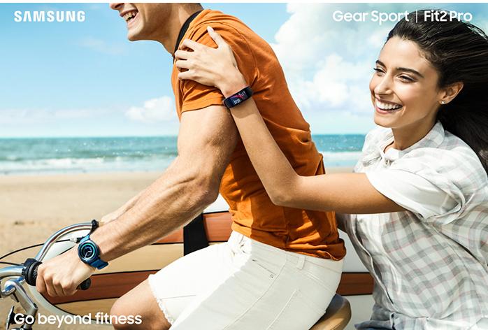 Samsung Gear Fit2 Pro (SM-R365) - Schwarz (Gr.S) -