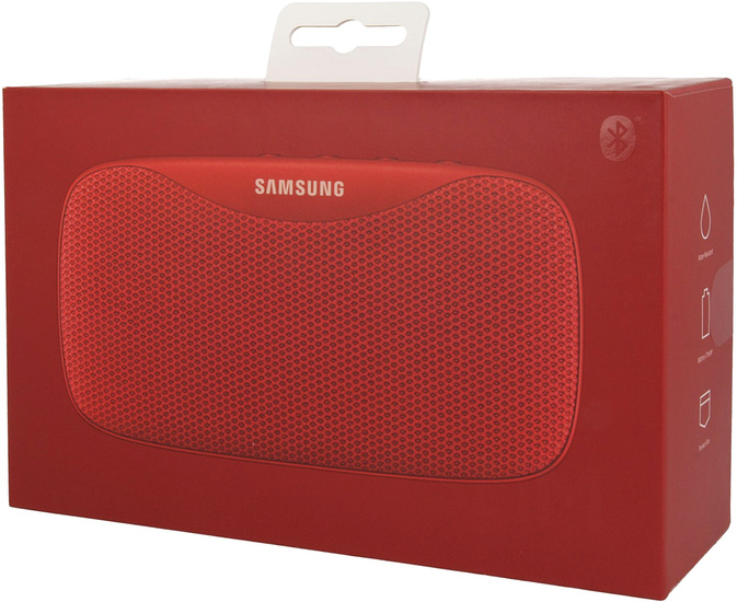 Samsung \'\'Level Box Slim\'\' mobiler Bluetooth Lautsprecher red -