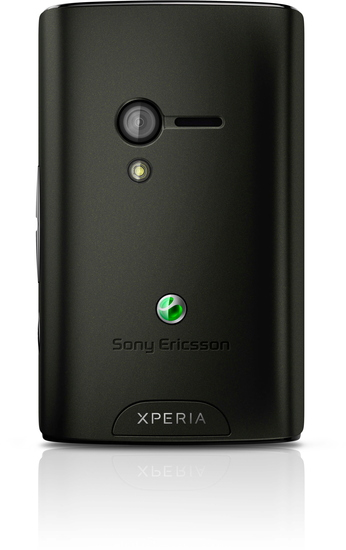 Sony Ericsson XPERIA X10 mini, schwarz-rot - Rückseite mit schwarzer Farbschale