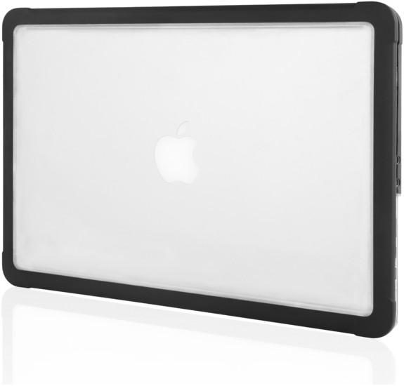 STM STM Dux Case, Apple MacBook Air 13 (2018), schwarz/transparent, STM-122-218M-01 -