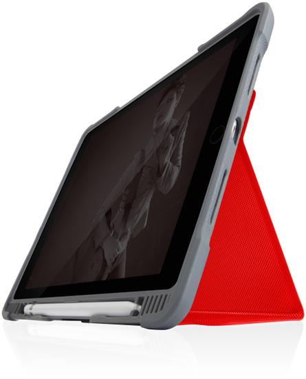 STM Dux Plus DUO Case, Apple iPad 10,2 (2019), rot/transparent, STM-222-236JU-02