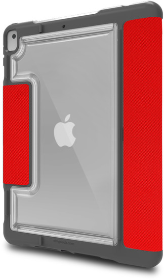 STM Dux Plus DUO Case, Apple iPad 10,2 (2019), rot/transparent, STM-222-236JU-02 -