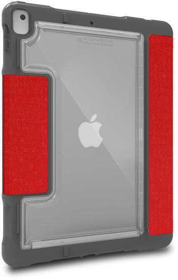STM Dux Plus DUO Case, Apple iPad 10,2 (2019), rot/transparent, STM-222-236JU-02 -