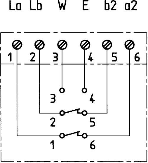 ZE Kom TAE-Anschlussdose mit N-Codierung, Unterputz - Schaltplan