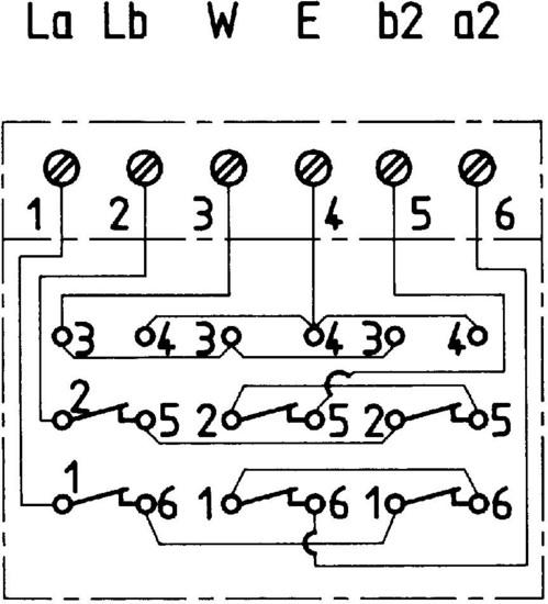 ZE Kom TAE-Anschlussdose mit NFN-Codierung, Unterputz - Schaltplan