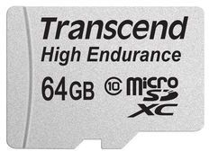 Transcend 64GB mircoSDHC, Class 10, Video Recording -