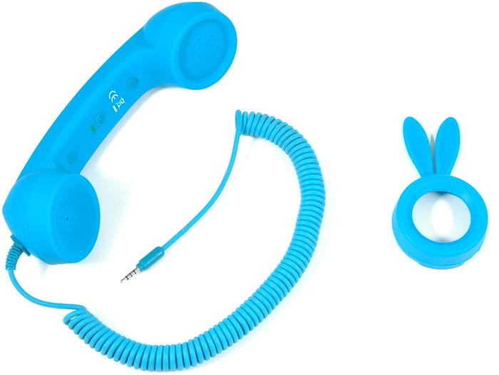 Twins Retrophone+ Bunny Edition (Volume Control), petrolblau -