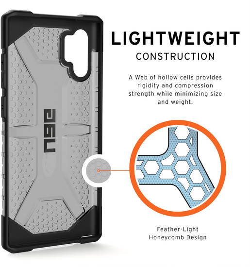 Urban Armor Gear UAG Urban Armor Gear Plasma Case, Samsung Galaxy Note 10+, ash (grau transparent), 211753113131 -