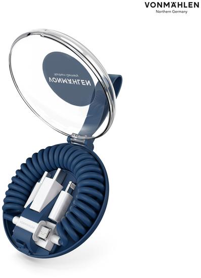 Vonmählen allroundo All-in-One Ladekabel, blau -