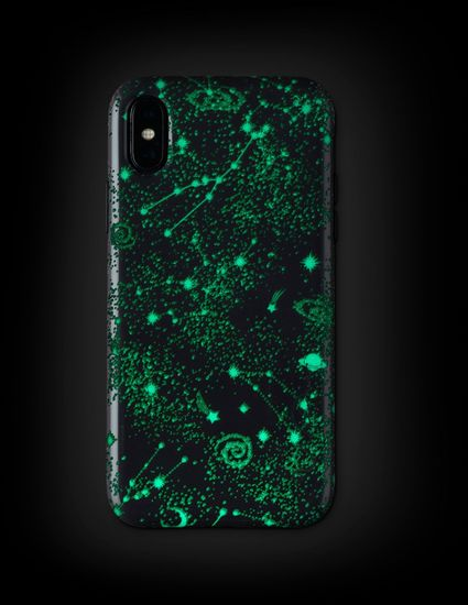 Wilma Midnight Shine Gazing Stars for iPhone X/Xs black -