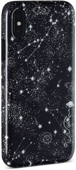 Wilma Midnight Shine Gazing Stars for iPhone X/Xs black -