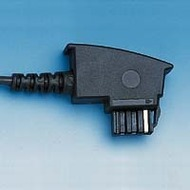 HDK Anschluss-Schnur TAE F -> RJ11, 15m schwarz, Standard-Belegung (US Norm)
