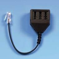 HDK Adapter Modularst. 6/ 4(RJ11) auf TAE-NFF (0,2 m)