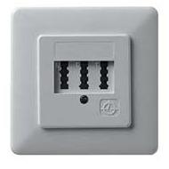 ZE Kom Automatischer Mehrfachschalter (AMS) mit NF/ F TAE-Anschlussdose, Unterputz