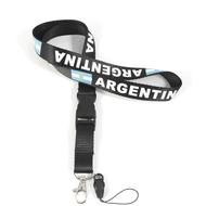 Handyband Argentina schwarz /  Schlüsselband