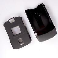 Strax Oberschale Click-On Motorola V3 schwarz matt