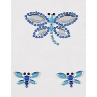 Handysticker Libelle blau