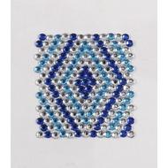 Handysticker blaues Karo