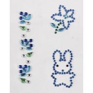 Handysticker blauer Hase und blaue Blume