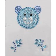 Handysticker blauer Bär