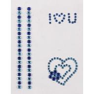 Handysticker I Love U, blau