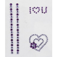 Handysticker I Love U, violett