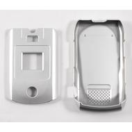 Oberschale Click-On Cover Motorola V3x silver salt