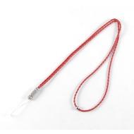 Mobile/ Schlüssel - Lederband Kordel red