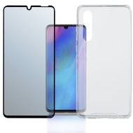 "4smarts 360° Premium Protection Set ""Case Friendly"" mit Colour Frame Glas für Huawei P30 schwarz"