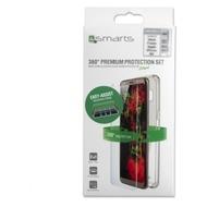 4smarts 360° Premium Protection Set mit Colour Frame Glas & Easy-Assist für Apple iPhone 11 Pro Max /  XS Max schwarz
