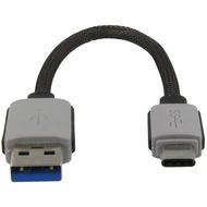 4smarts Basic Micro-USB Typ-A auf Typ-C, 21cm, schwarz