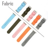 4smarts Fabric Armband für Apple Watch Series 4 (40mm) & Series 3/ 2/ 1 (38mm) grau