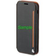 4smarts Flip-Tasche TWO-TONE+ für iPhone X - schwarz/ orange