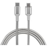 4smarts Magnetisches Typ-C auf Typ-C Kabel GRAVITYCord Ultimate 1,8m silber/ weiß