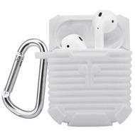 4smarts Silikon-Tasche mit Karabiner für Apple AirPods weiß