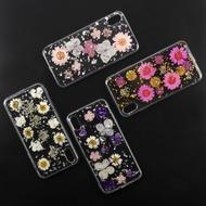 4smarts Soft Cover Glamour Bouquet für Apple iPhone Xs /  X weiße Blumen/ silberne Flocken