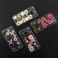 4smarts Soft Cover Glamour Bouquet für Huawei Mate 20 weiße Blumen / silberne Flocken