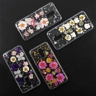 4smarts Soft Cover Glamour Bouquet für Samsung Galaxy A6+ (2018) pink/ gold
