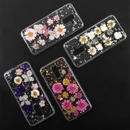 4smarts Soft Cover Glamour Bouquet für Samsung Galaxy A6+ (2018) rosa Blumen/ silberne Flocken