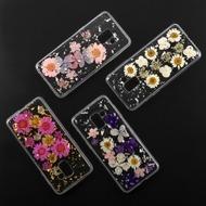 4smarts Soft Cover Glamour Bouquet für Samsung Galaxy A8 (2018) violette Blumen/ silberne Flocken