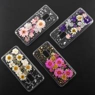 4smarts Soft Cover Glamour Bouquet für Samsung Galaxy S9 weiße Blumen/ silberne Flocken