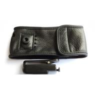 Aastra Ledertasche für Aastra 630d, schwarz, mit abnehmbaren Gürtelklipp.