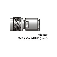 Antenne Bad Blankenburg Adapter, FME/ Mini-UHF (m/ m)
