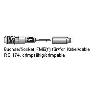 Antenne Bad Blankenburg Buchse FME(f) für  RG174 Nippelcrimpfähig