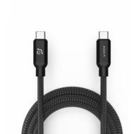ADAM Elements CASA C200 USB-C/ USB-C Ladekabel 100W, 2m, schwarz, ACBADC200BK